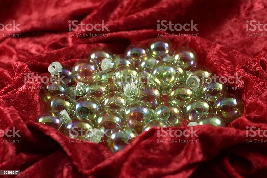 Iridescent Christmas balls royalty-free stock photo