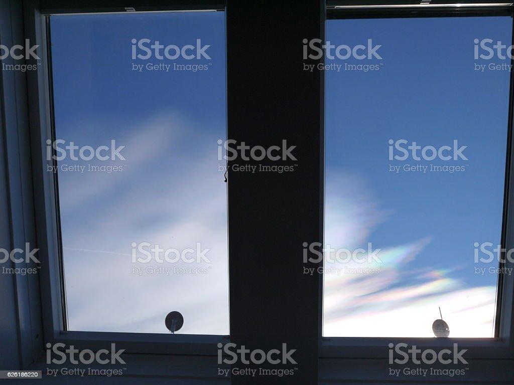 Iridescent clouds 2 stock photo