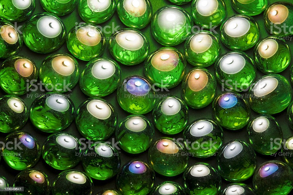 iridescent glass beads royalty-free stock photo