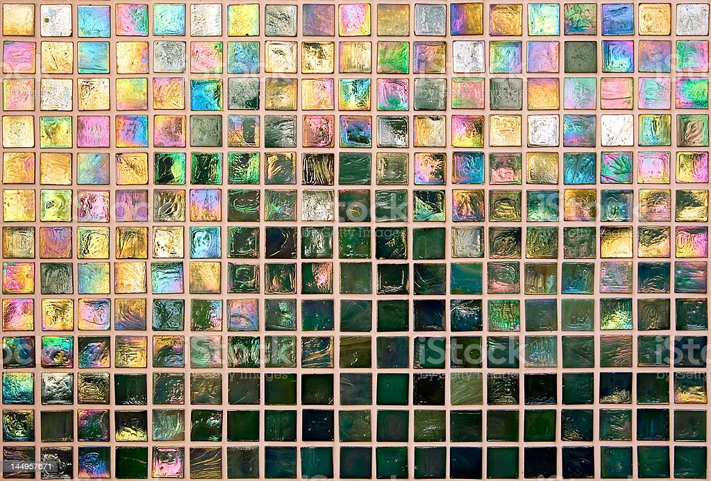 Iridescent Tile Wall royalty-free stock photo