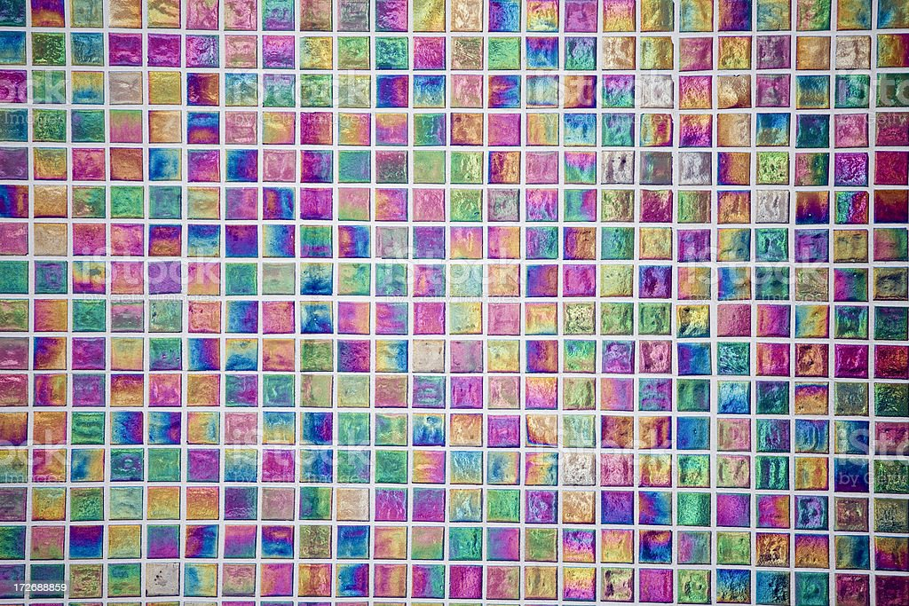 Iridescent tiles reflect sun and shadows royalty-free stock photo