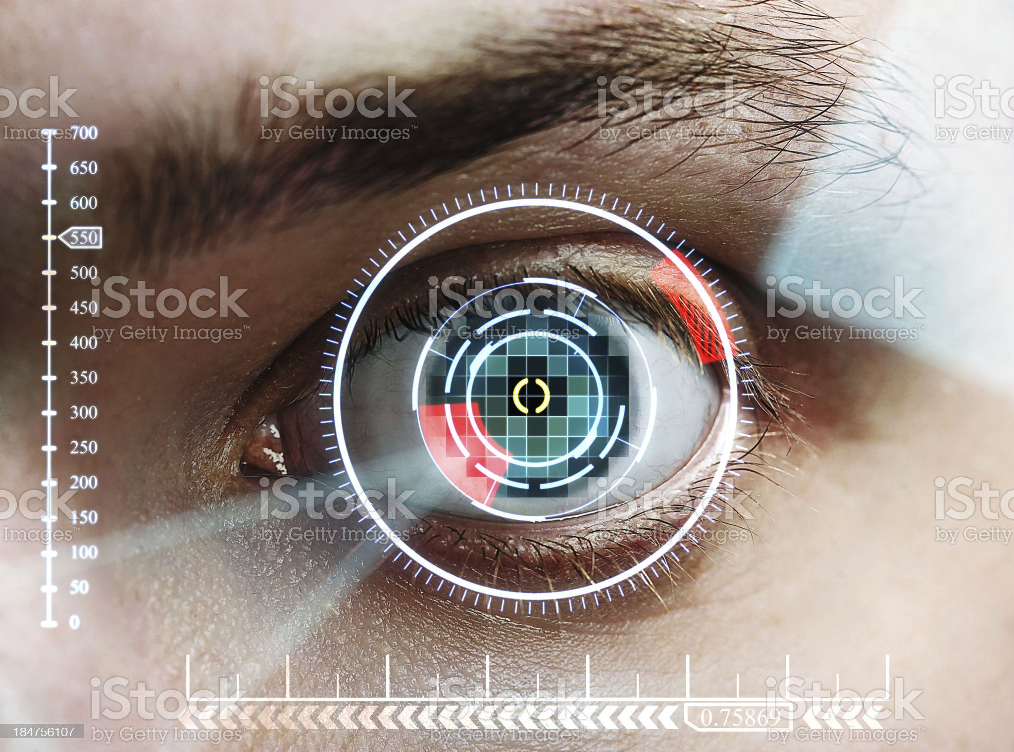 iris scan royalty-free stock photo