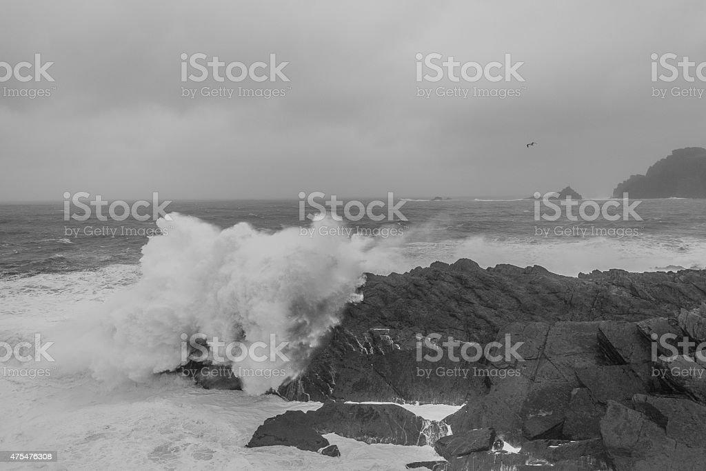 Irische Riesenwelle royalty-free stock photo