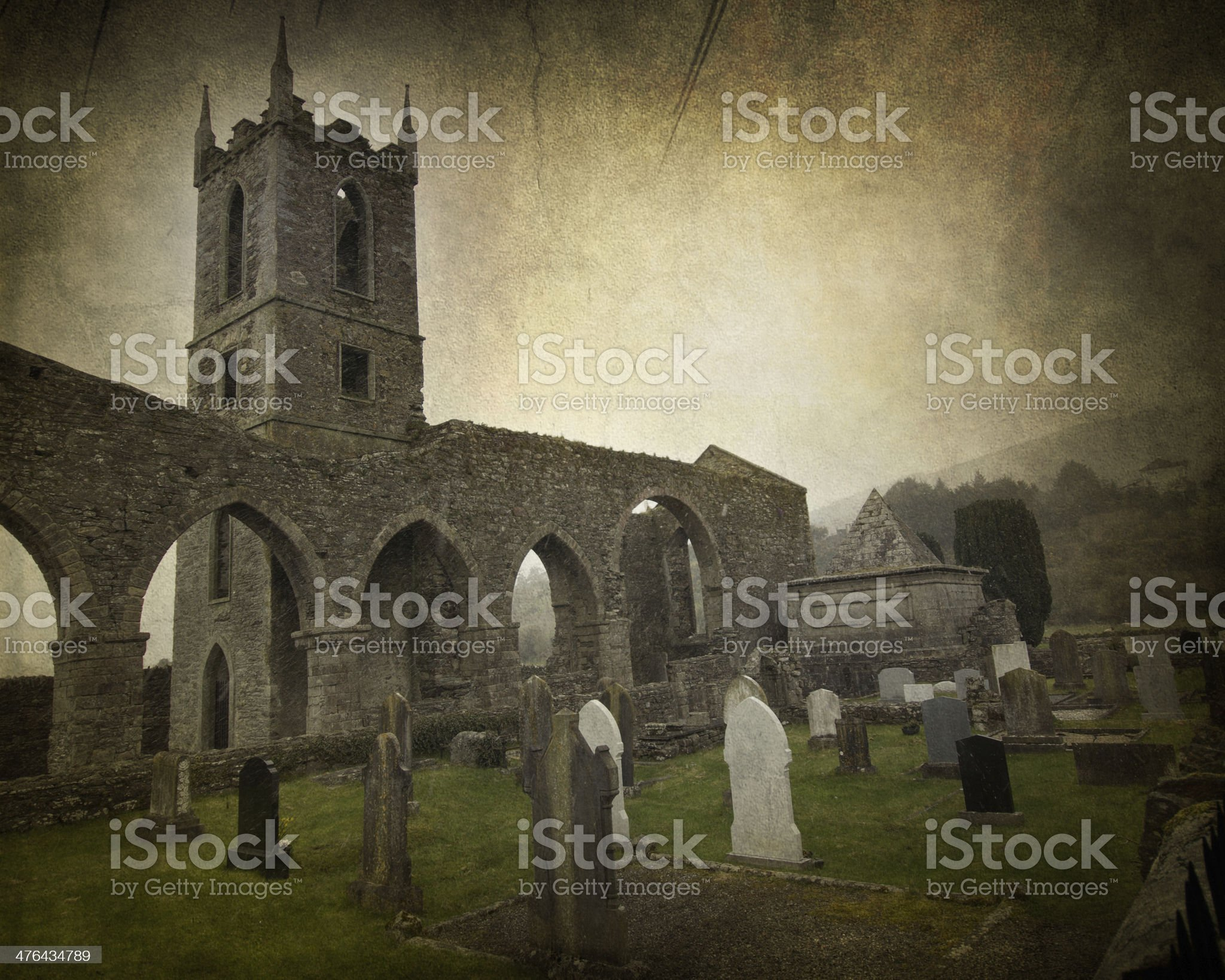 Irish Abbey royalty-free stock photo