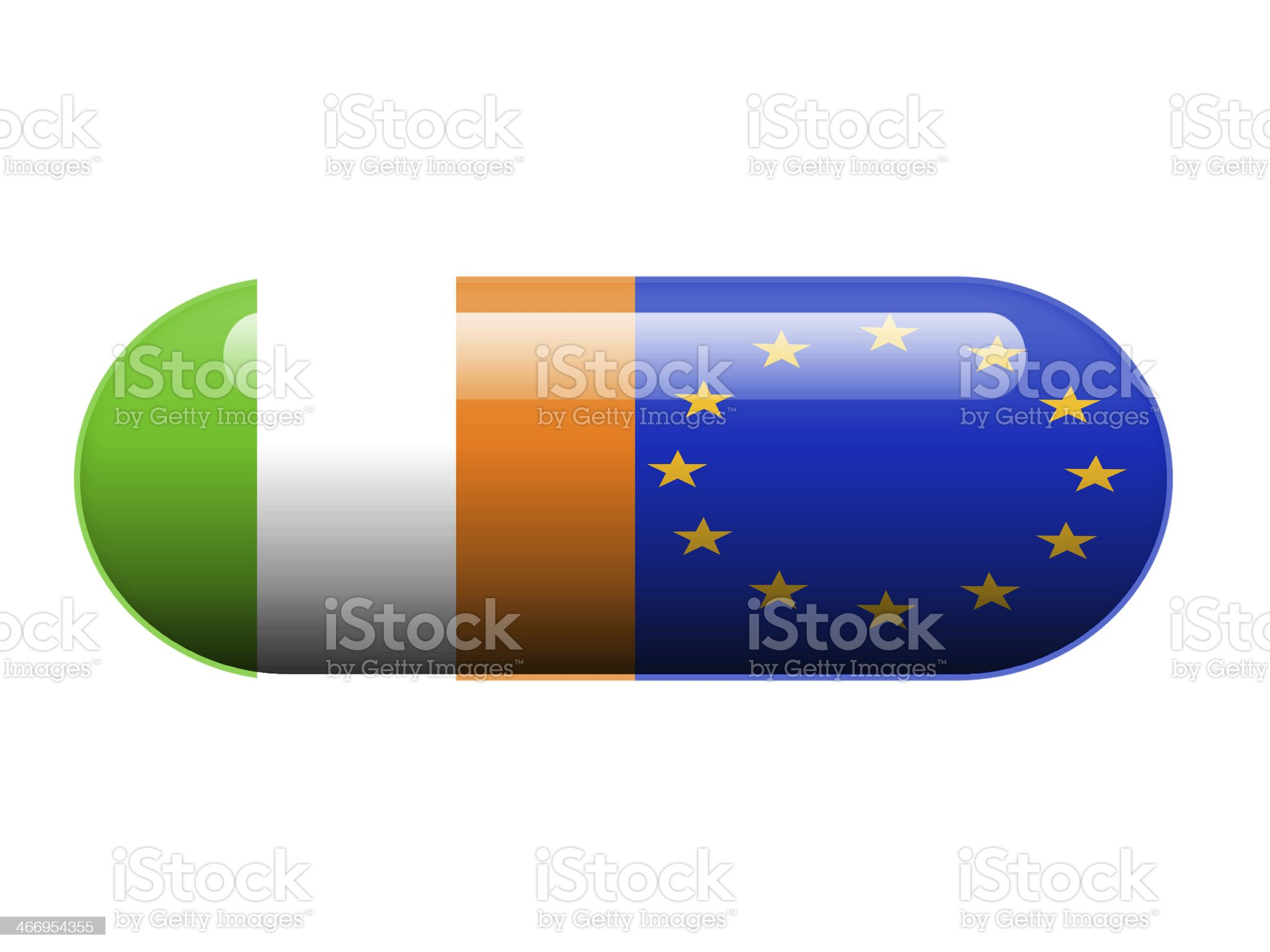 Irish and European pill royalty-free stock photo
