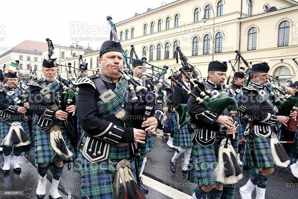 Irish bagpipers royalty-free stock photo