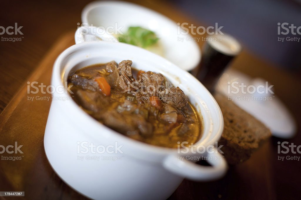 Irish Beef stew stock photo