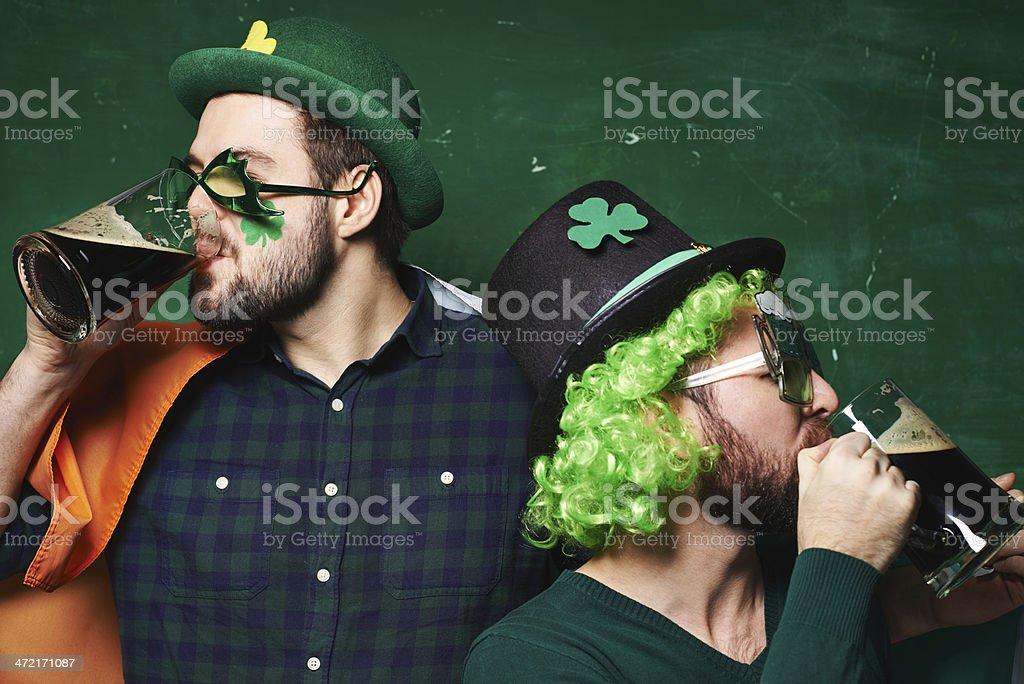 Irish beer party stock photo