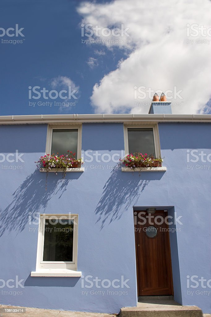 Irish blue house royalty-free stock photo