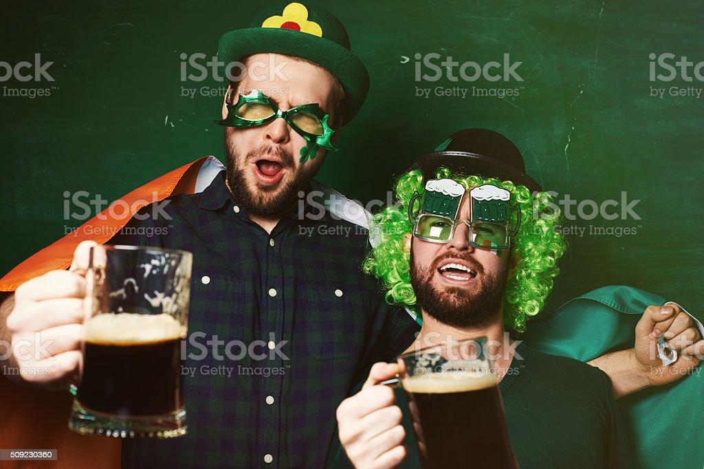 Irish booze-up stock photo