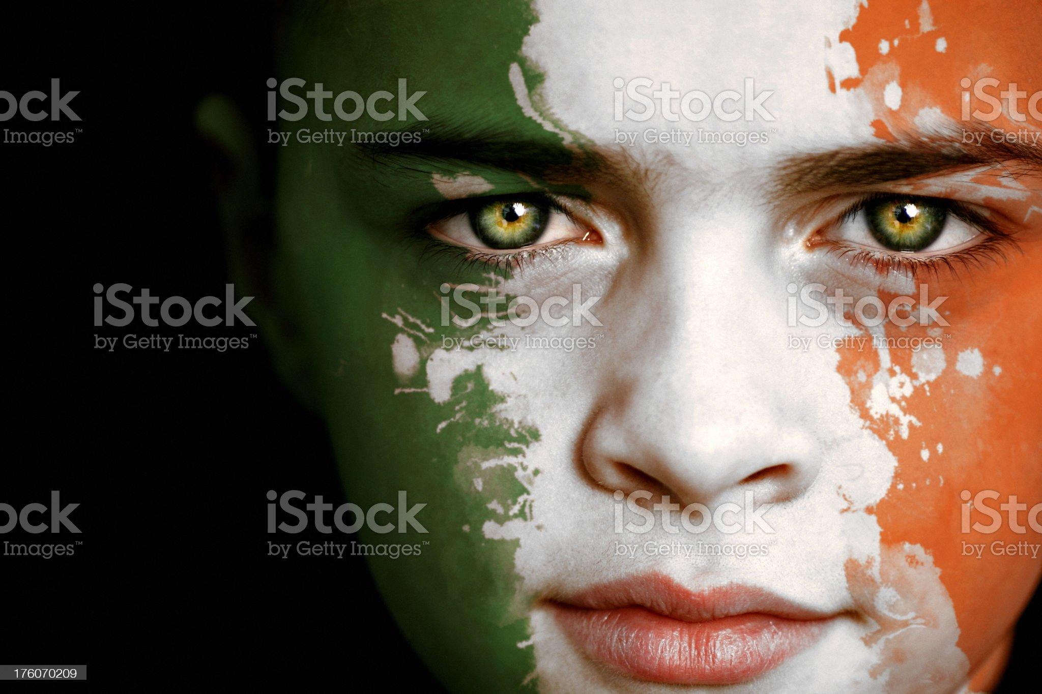 Irish boy with Ireland Flag royalty-free stock photo