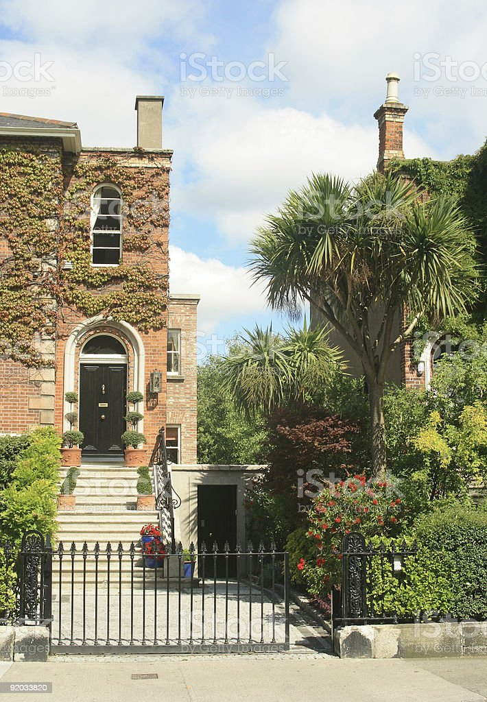 Irish brick house royalty-free stock photo