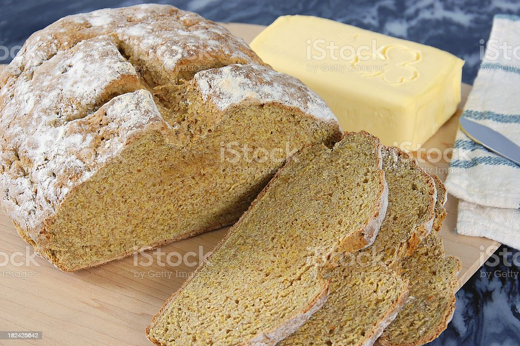 Irish Brown Bread stock photo