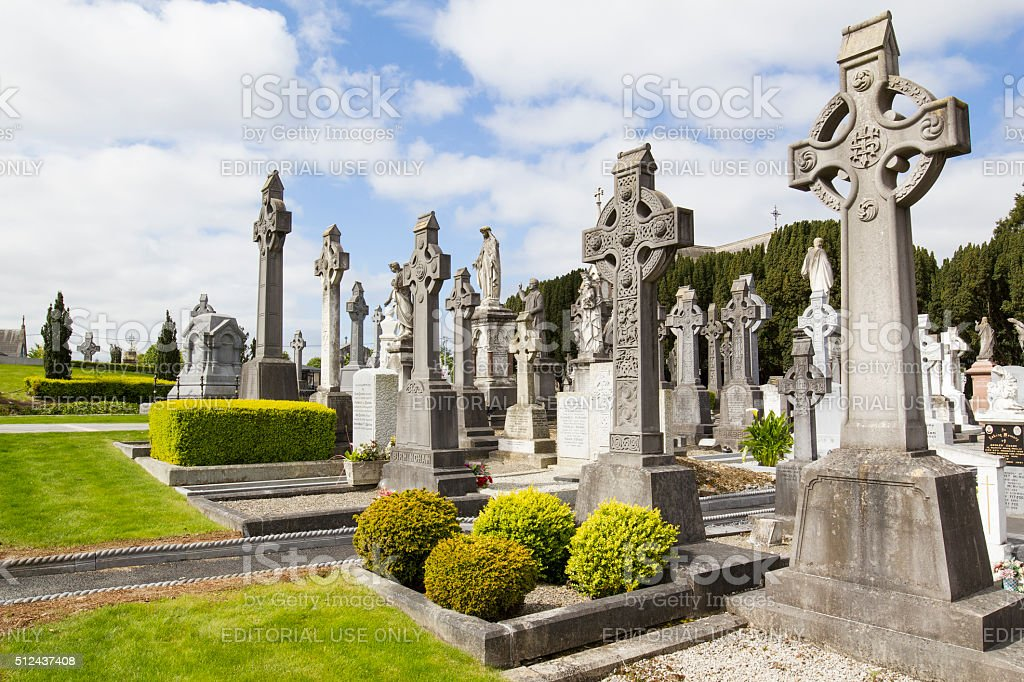 Irish cemetery stock photo