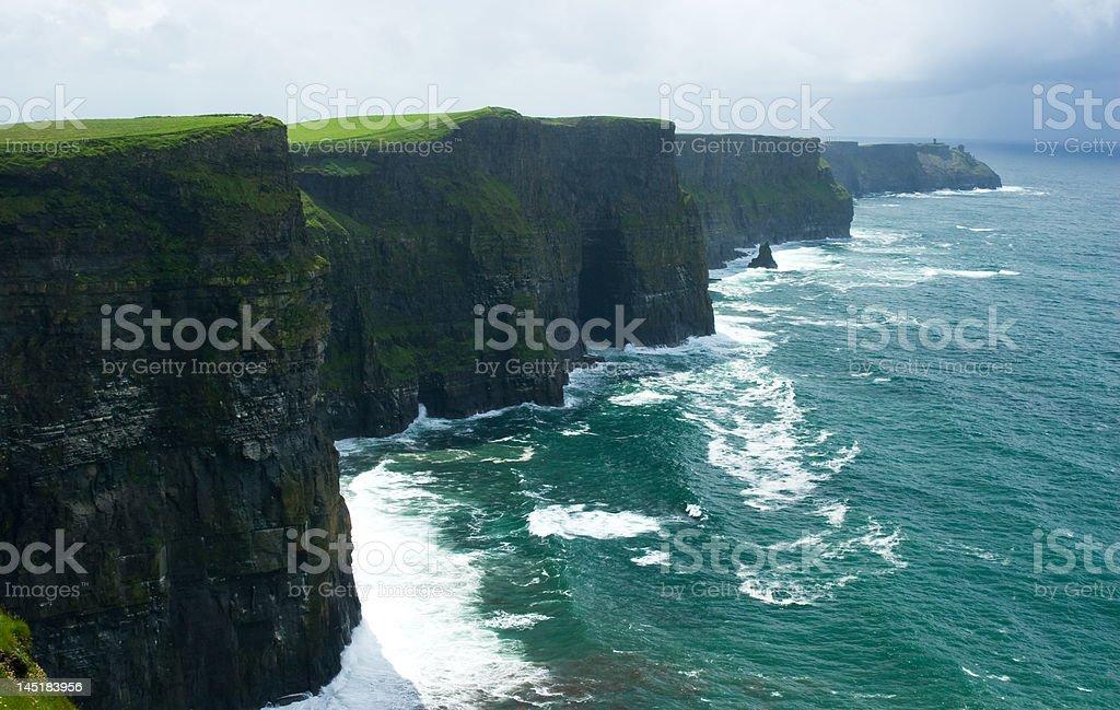 Irish Cliffs of Moher royalty-free stock photo