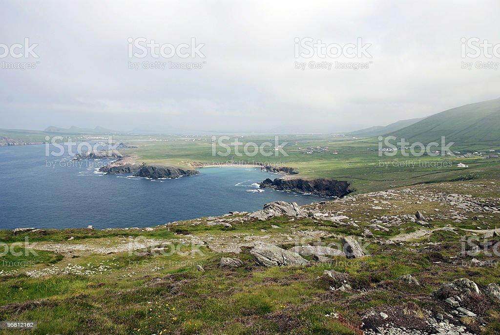 Irish Coast on a Cloudy Day royalty-free stock photo