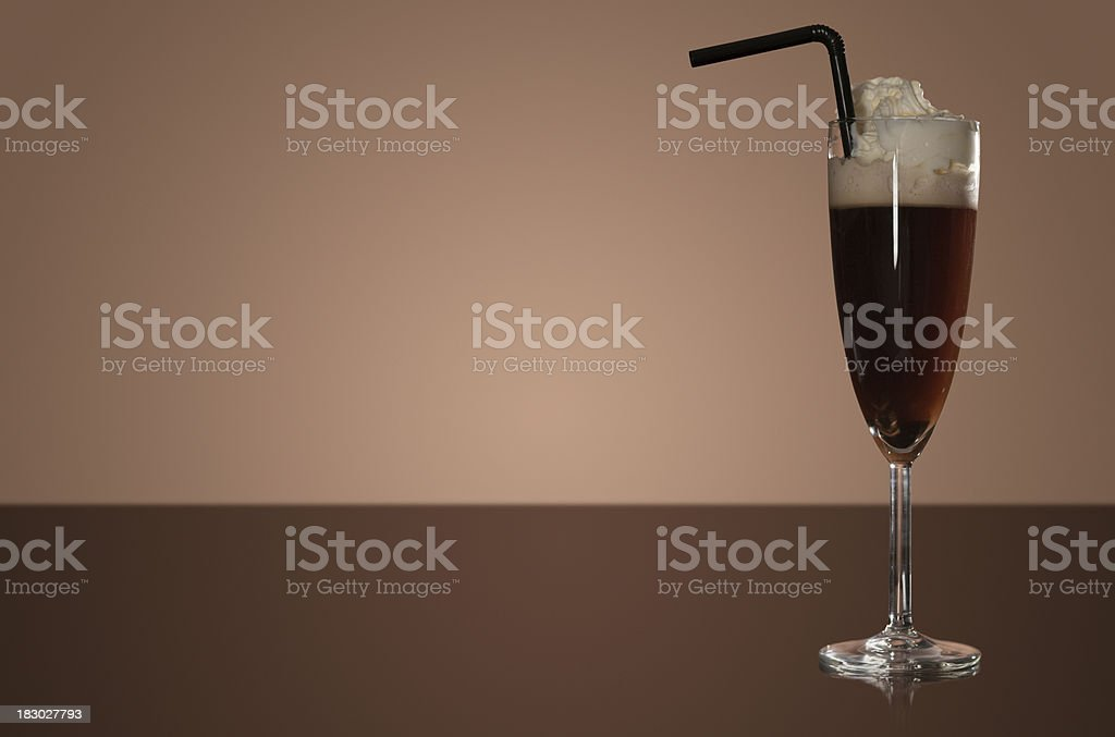 Copyspace Irish cofee royalty-free stock photo