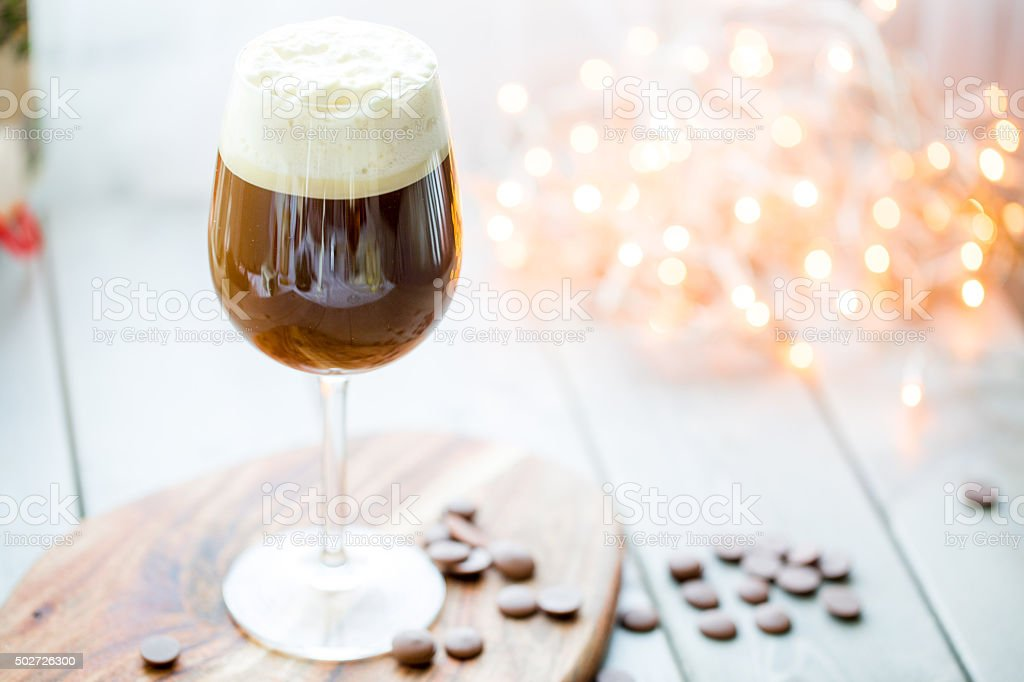 irish coffee, celebration concept. stock photo