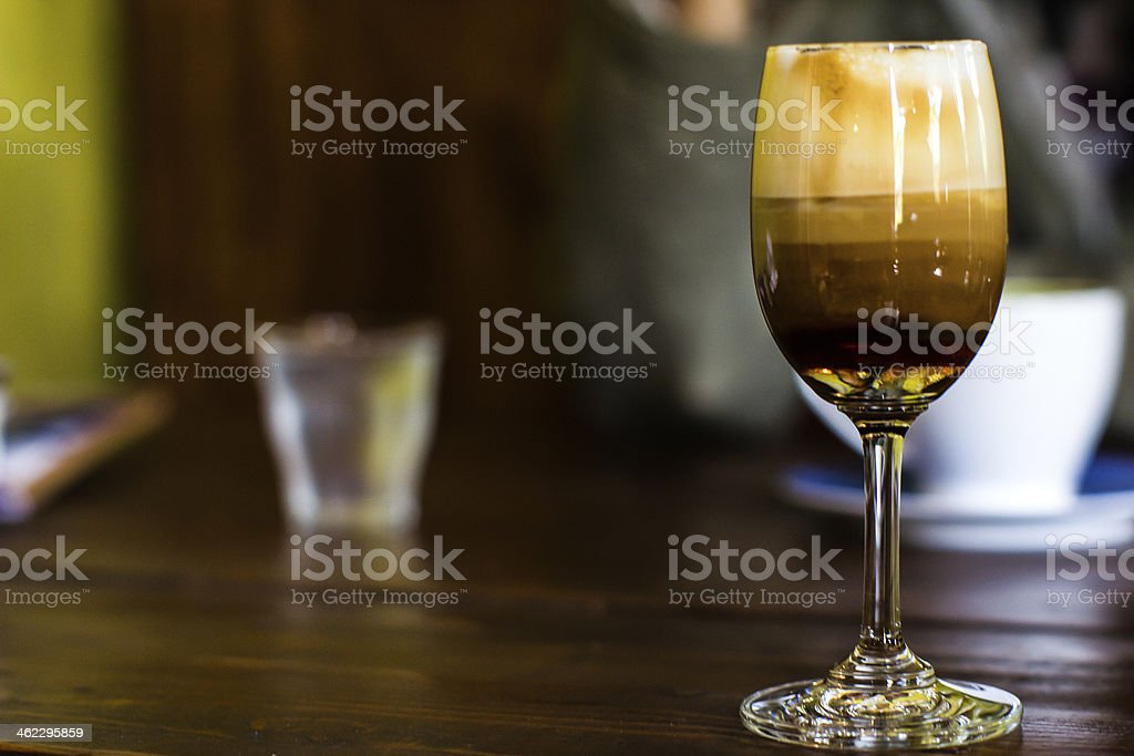 Irish coffee cocktail in a glass stock photo
