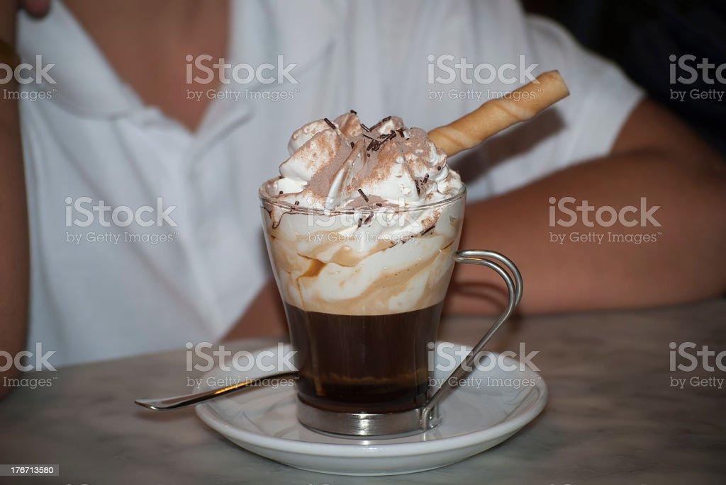 Irish Coffee. stock photo