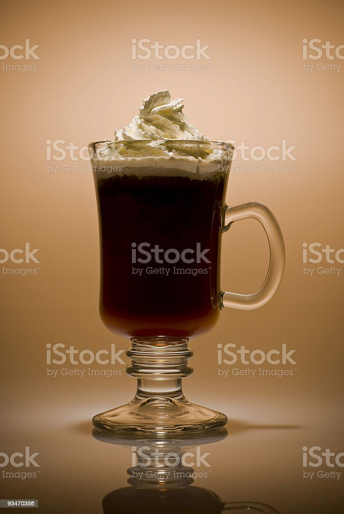 Irish Coffee (Warm tones) royalty-free stock photo