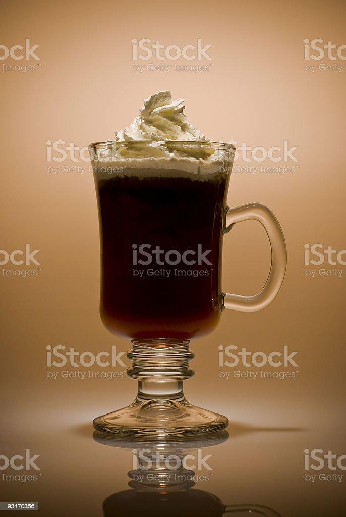 Irish Coffee (Warm tones) stock photo