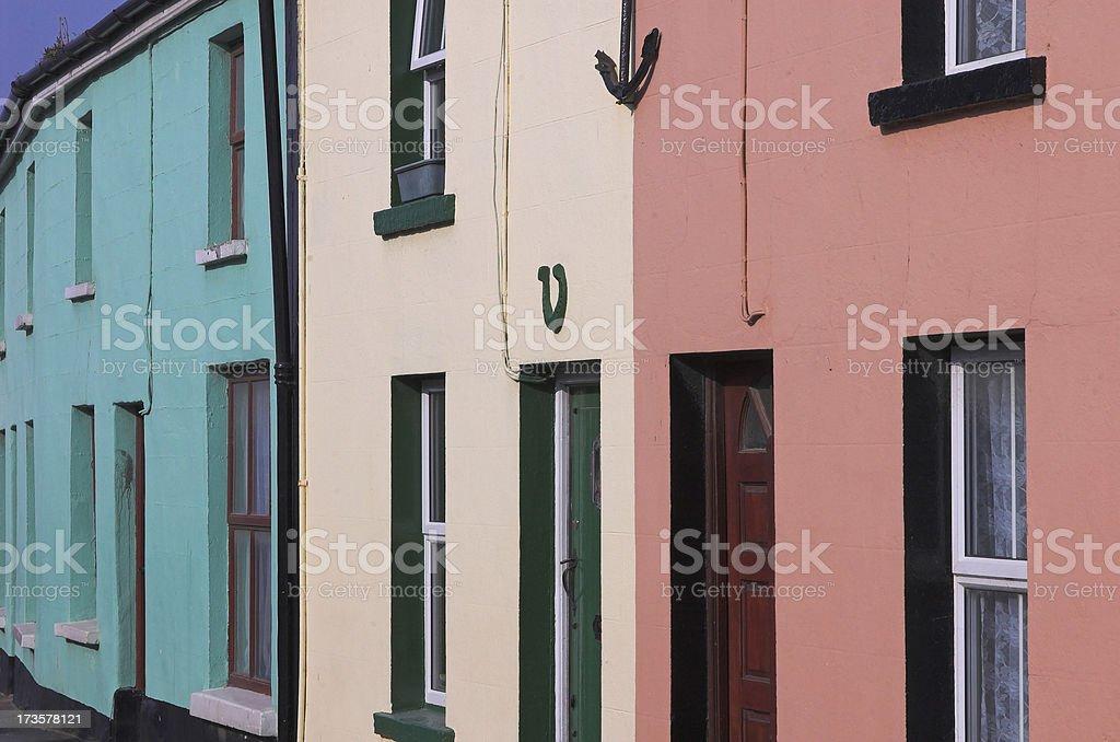 Irish Colored houses royalty-free stock photo