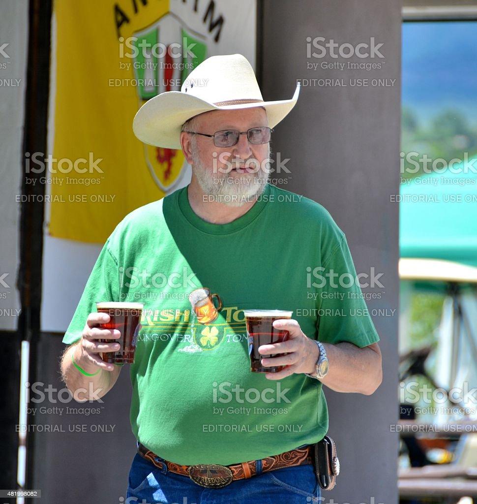 Irish Cowboy stock photo