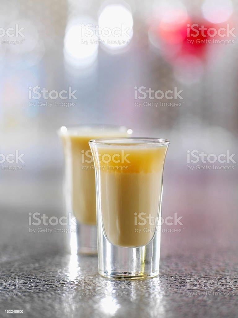 Irish Cream and Gran Marnier Shooters stock photo
