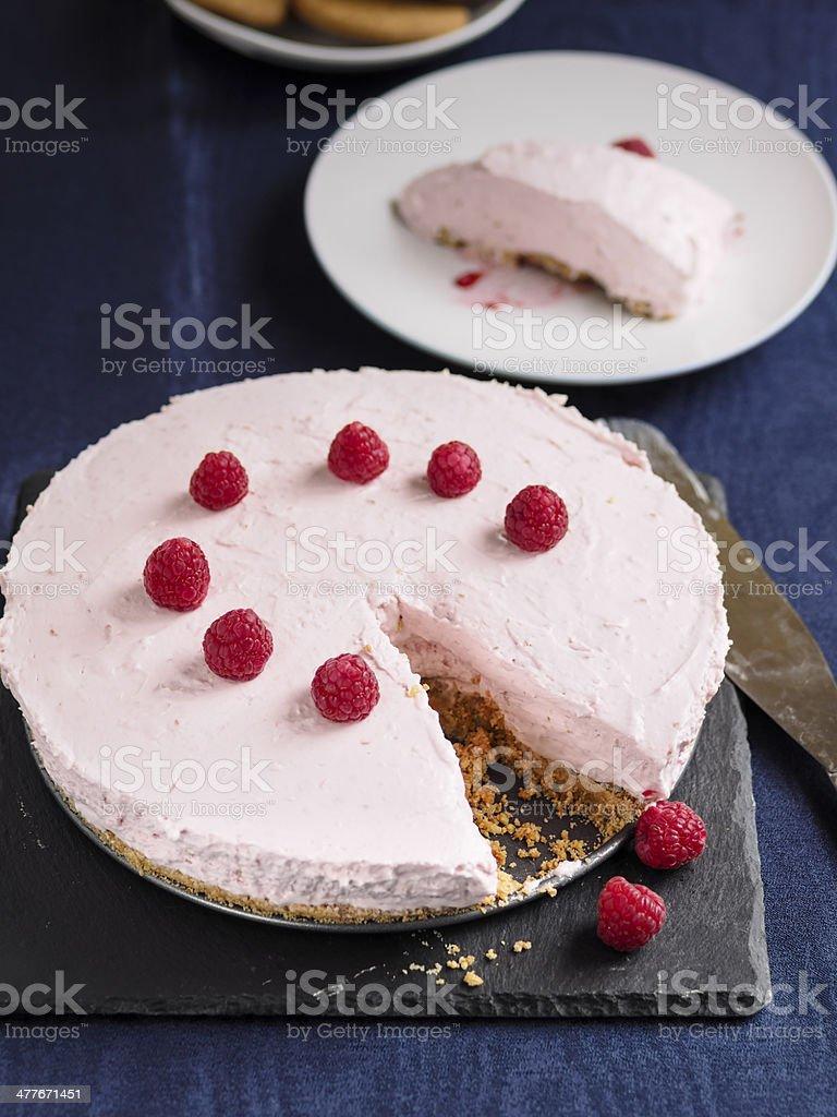 Irish cream cheese cake stock photo