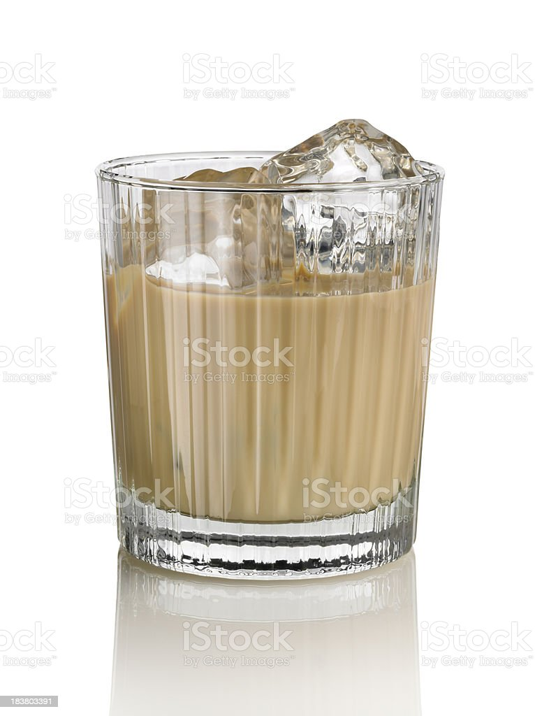 Irish cream liqueur in crystal glass stock photo