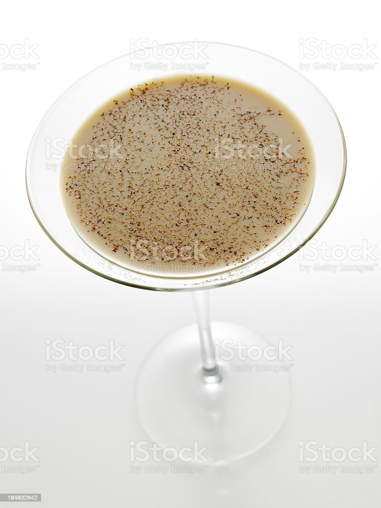 Irish cream liqueur with nutmeg stock photo