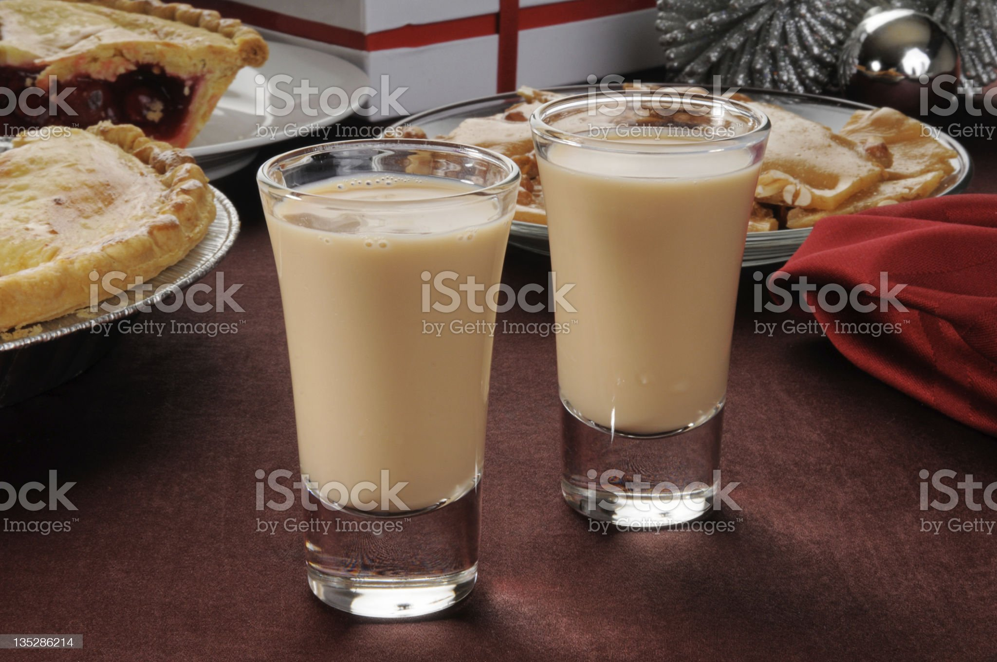 Irish cream shooters royalty-free stock photo