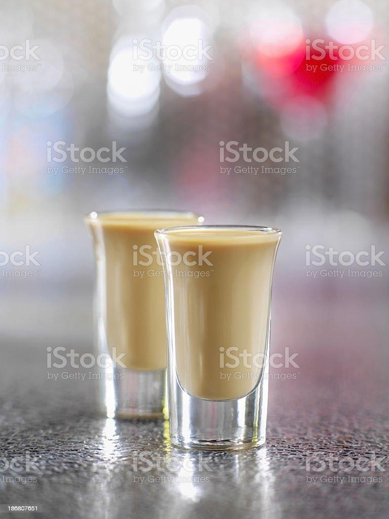Irish Cream Shooters stock photo