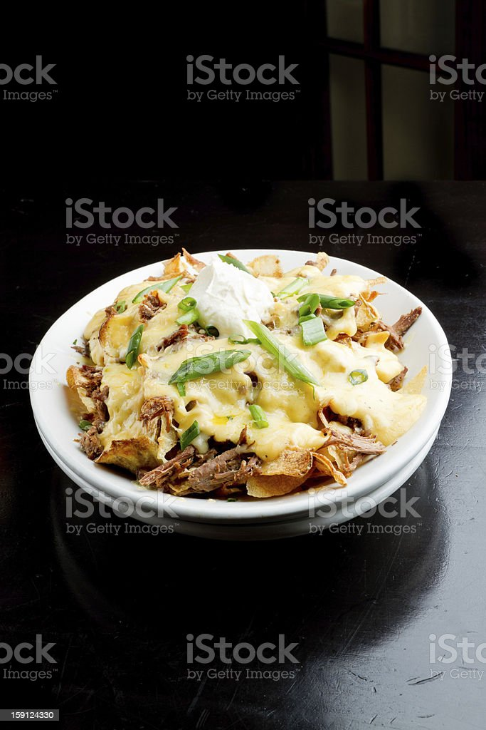 Irish Cuisine Nacho Plate royalty-free stock photo