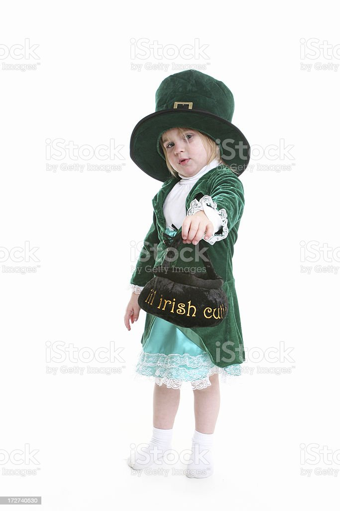 Irish cutie Leprechaun stock photo