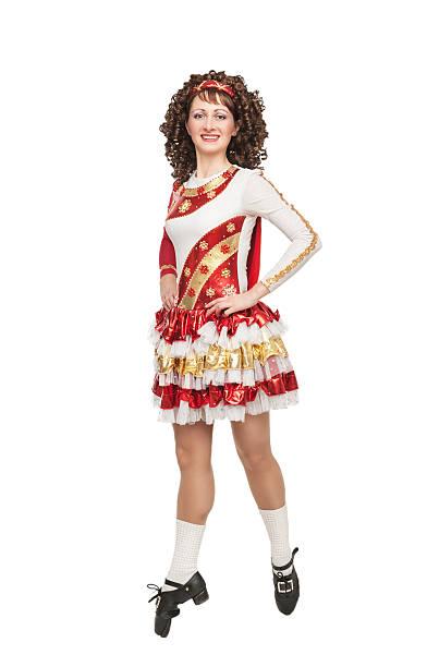 irish dancer in hard shoes stock photo - Irish Dancer Halloween Costume