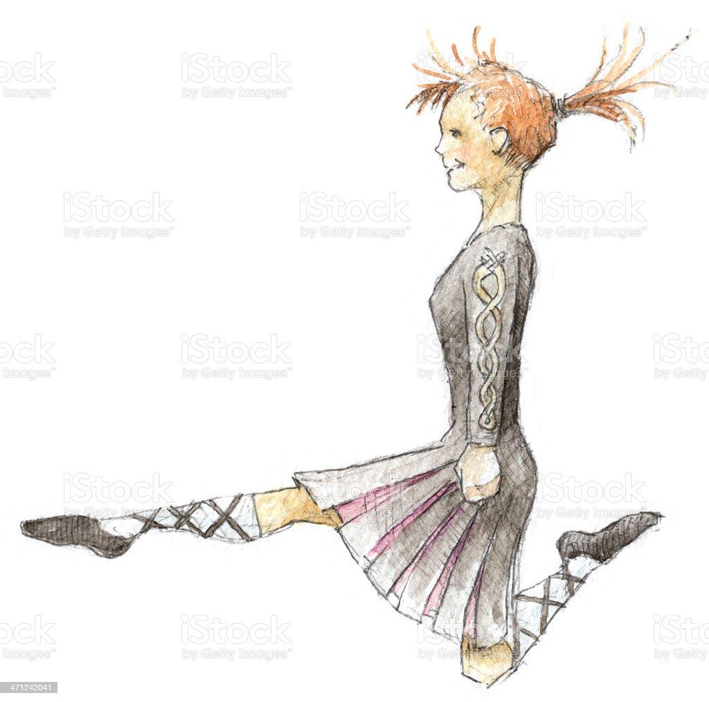Irish Dancer, Riverdance stock photo