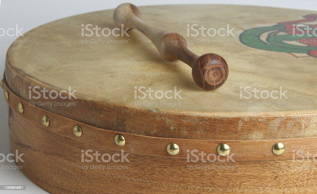 Irish Drum   Bodhran stock photo