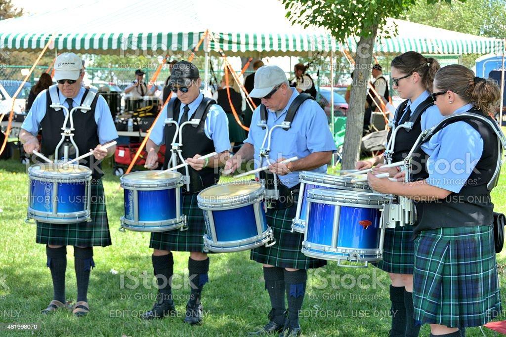Irish Drumline stock photo