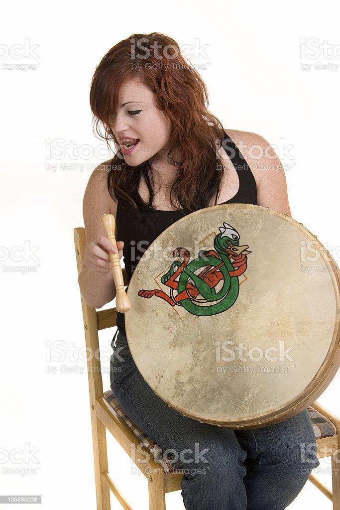 Irish Drummer stock photo