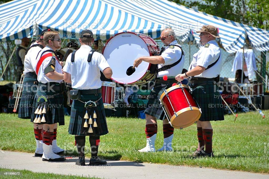 Irish Drummers stock photo