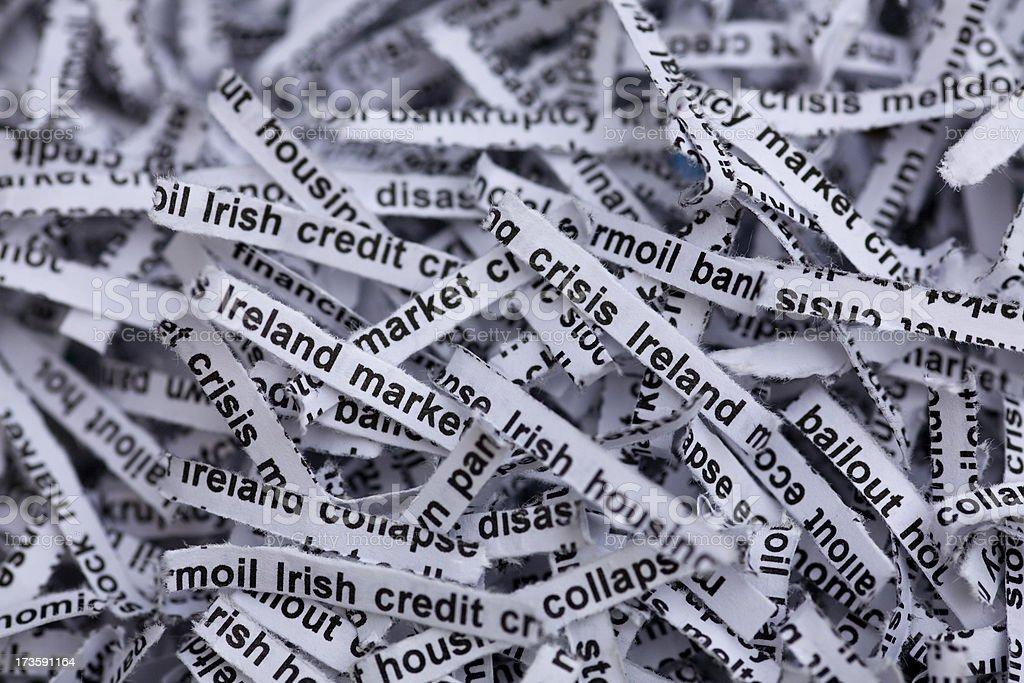 Irish Economy and Housing Meltdown stock photo
