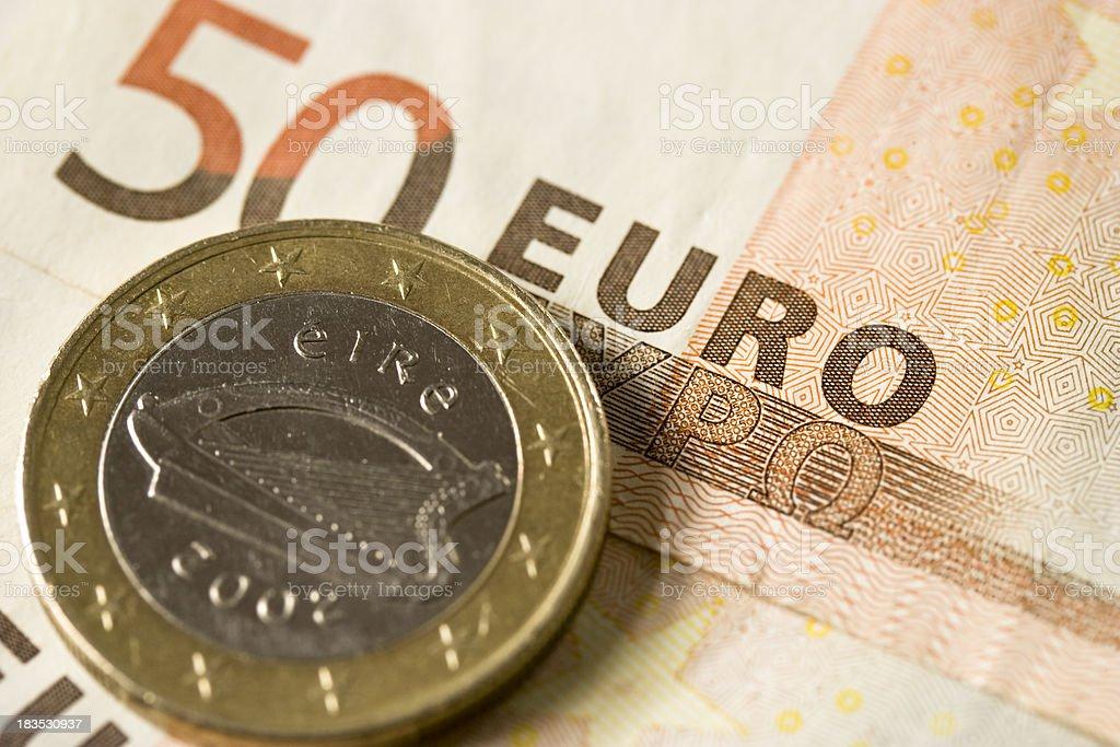 Irish Euro Coin royalty-free stock photo