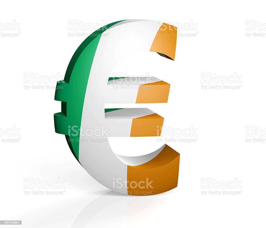 Irish Euro royalty-free stock photo