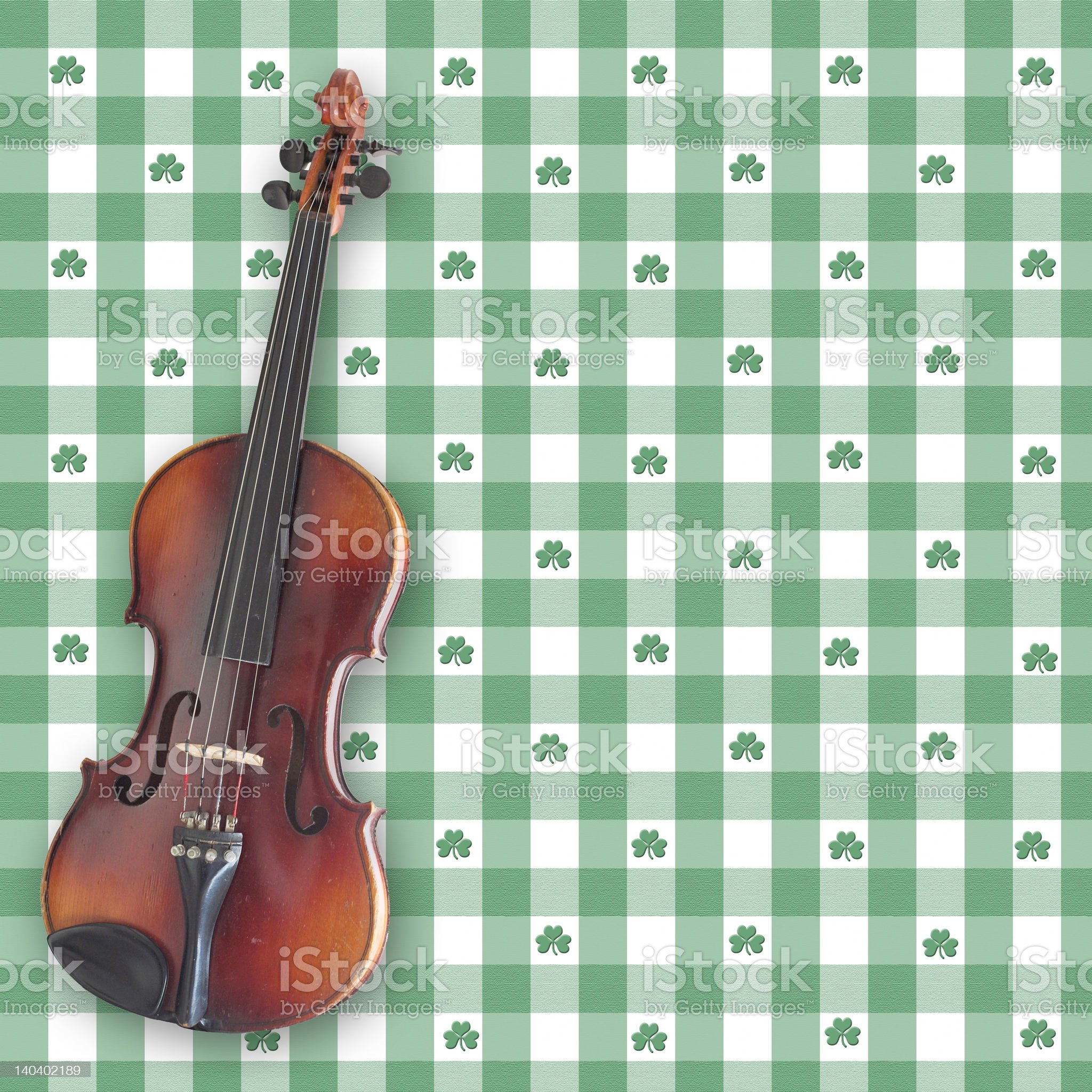 Irish Fiddle royalty-free stock vector art