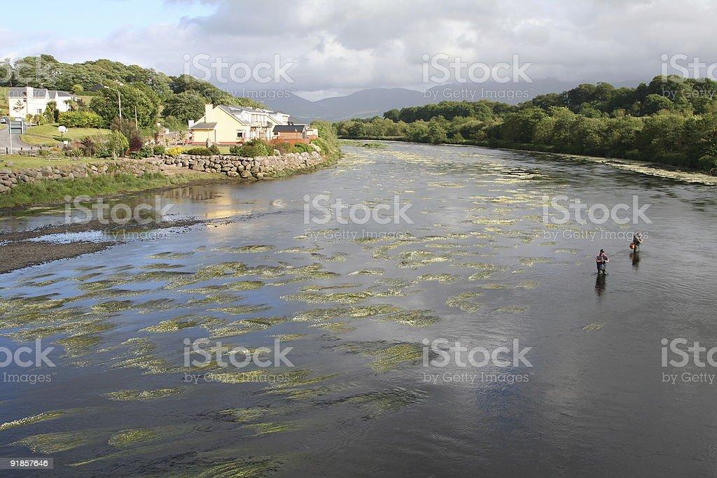Irish Fishing in Killorglin 1 royalty-free stock photo