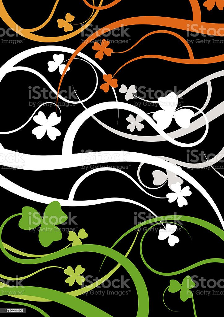 Irish flag in clover floral syle stock photo