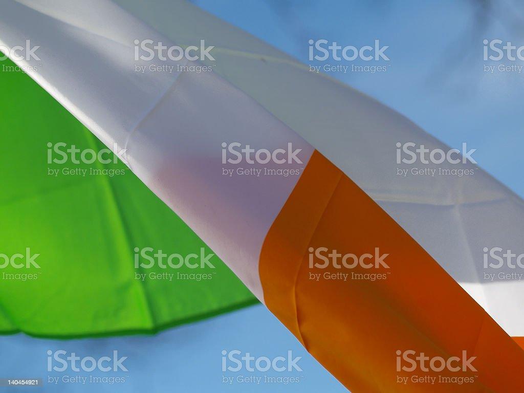 Irish Flag in Wind royalty-free stock photo