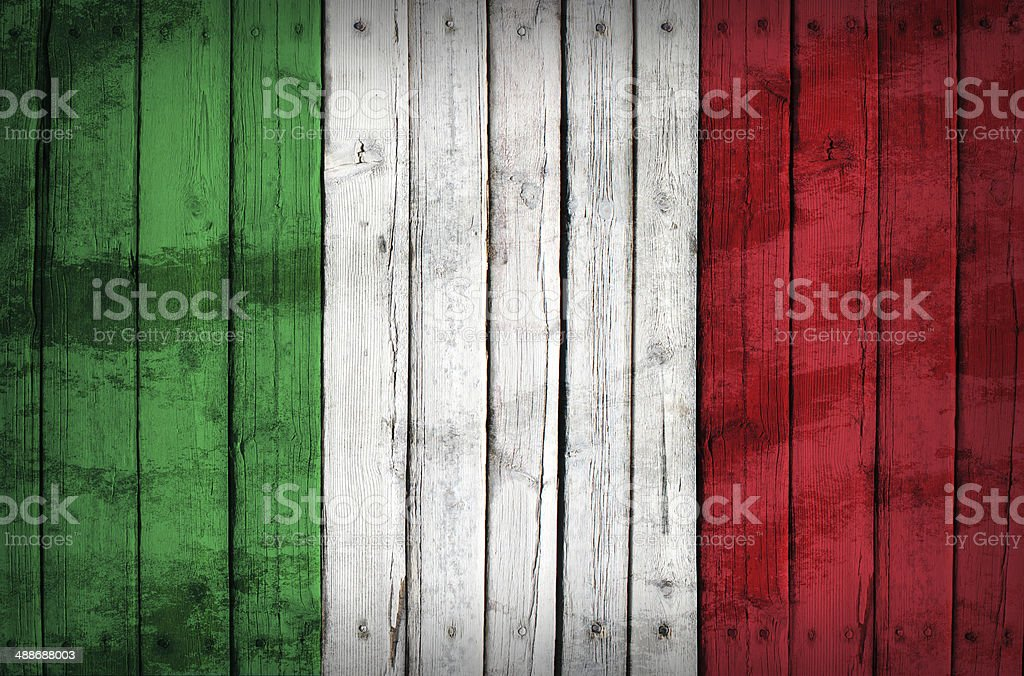 Irish flag painted on wooden boards royalty-free stock photo